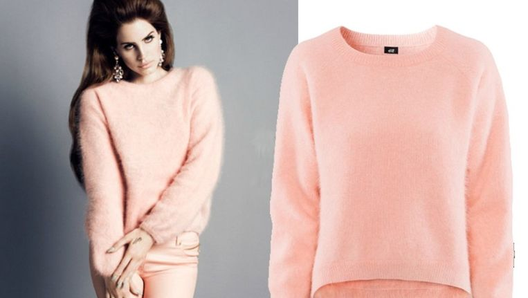 Lana Del Rey in angorawollen trui