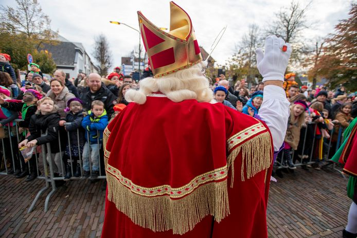 Sinterklaas bij de intocht in Oisterwijk. Die gaat dit jaar niet door.