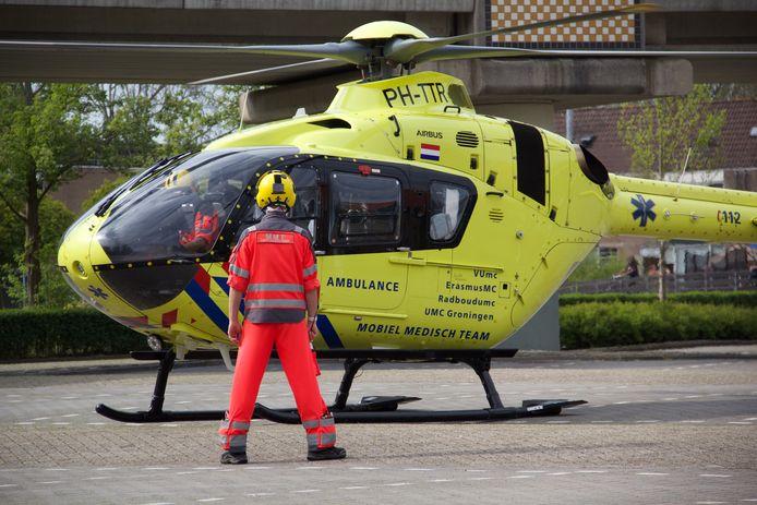 Voor de steekpartij nabij het metrostation kwam in april de traumahelikopter naar Spijkenisse gevlogen.
