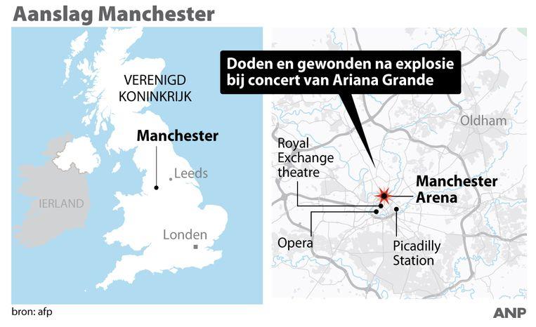 De locatie van de aanslag. Beeld ANP