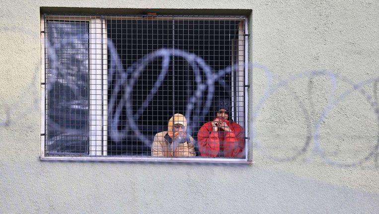 Vluchtelingen in een Tsjechische opvang.