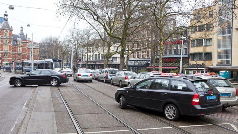 Archieffoto van de taxistandplaats op het Leidseplein. Foto ANP Beeld