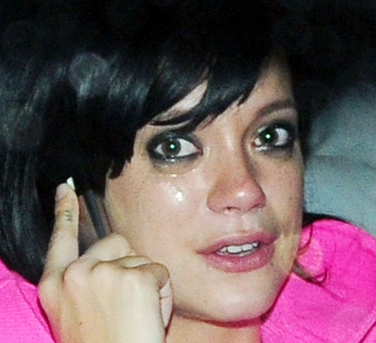 Lily Allen na een nacht stappen in Londen, 2009. Beeld Sunshine