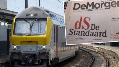 Het mysterie van de man op de trein die acht jaar oude kranten leest