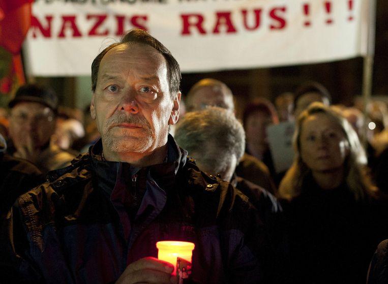 Inwoners van Zwickau demonstreren in 2011 tegen racisme Beeld afp