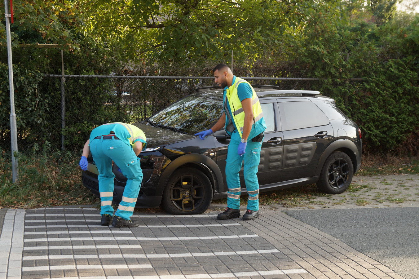 Twee auto's op elkaar gebotst in Kaatsheuvel.