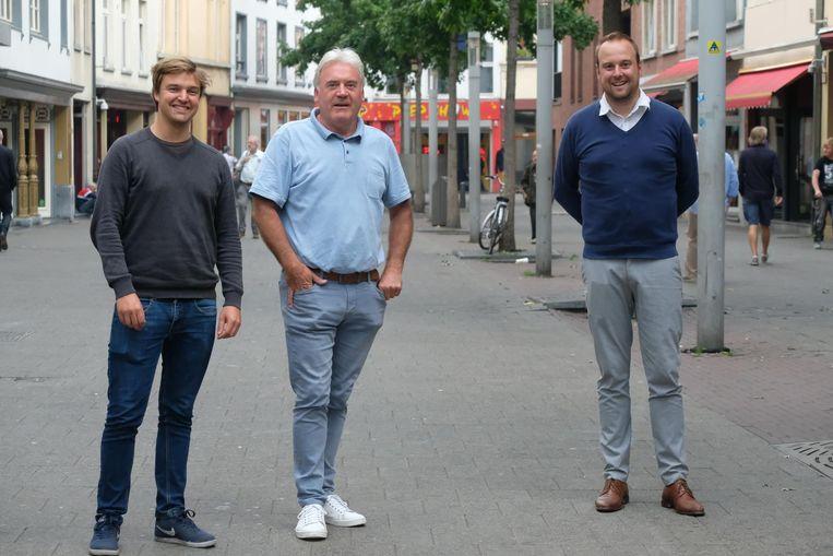 De gidsen Michiel, Patrik en Tom.
