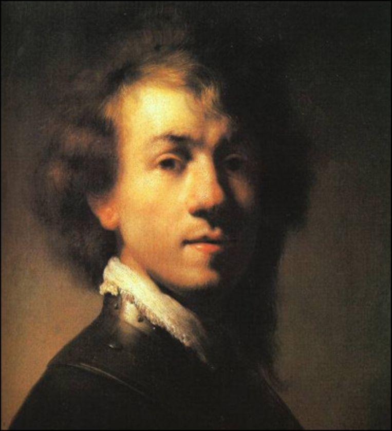 Rembrandt, zelfportret ca. 1629 Beeld