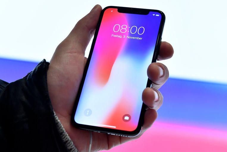 Een iPhone X.