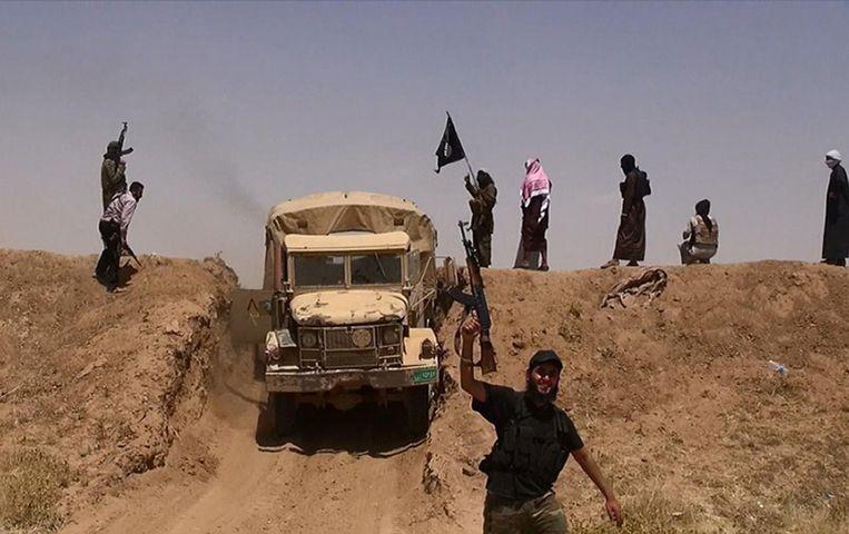 Vermoedelijke strijders van IS. (archiefbeeld). Beeld belga