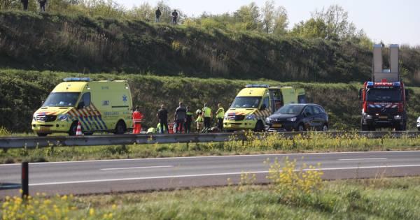 Rechterrijstrook A50 dicht tussen knooppunt Paalgraven en Ravenstein vanwege eenzijdig ongeluk.
