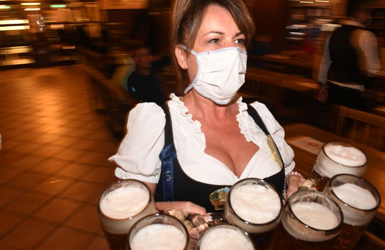 Munich held a small-scale Oktoberfest this year.