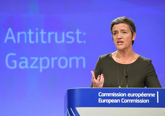 Eurocommissaris Margrethe Vestager (Mededinging) afgelopen mei in Brussel