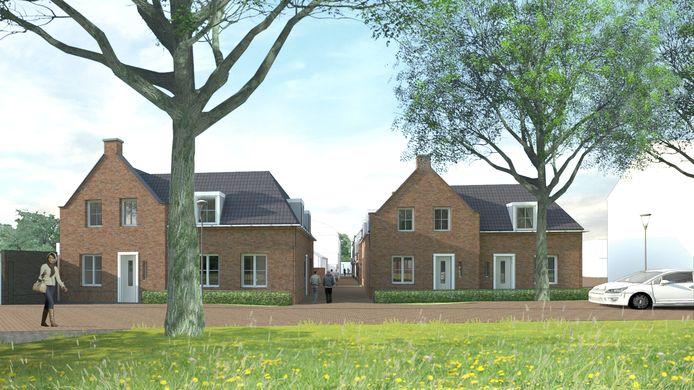 Een impressie van de nieuwbouw aan de Winterdijk in Waalwijk.