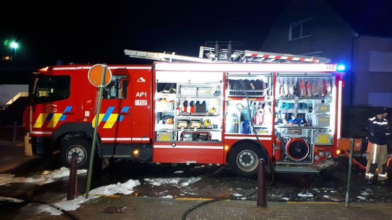 Brandweerpost Zottegem was snel ter plaatse.