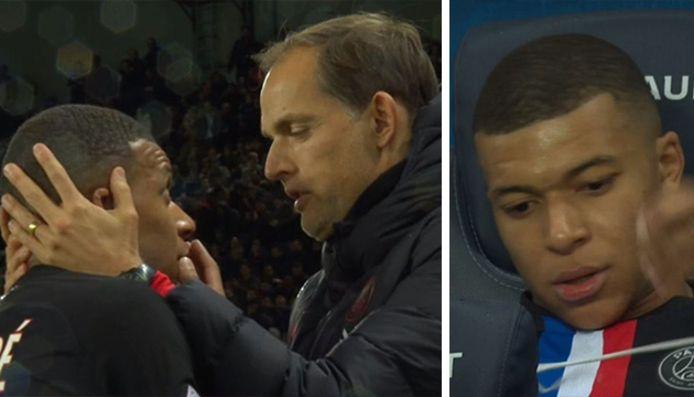 Remplacé à la 69e minute de jeu, Mbappe n'a visiblement pas compris le choix de Thomas Tuchel