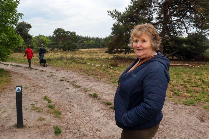 Anita Maassen-Jansen is bang dat er brand uitbreekt in de bossen van Lieshout.