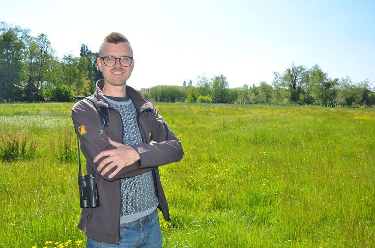 Thomas Van Lancker van vzw Durme zoekt 1.000 Lokerse gezinnen die de aankoop van het natuurgebied aan de Bleekmeersstraat willen steunen.