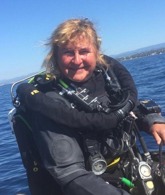 Edith Bracke was lid van duikclub Manta.