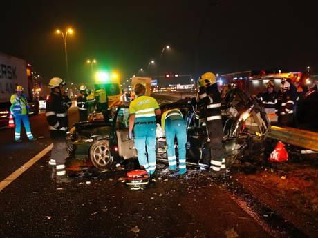 Drie gewonden bij ongeval op A2 bij Eindhoven