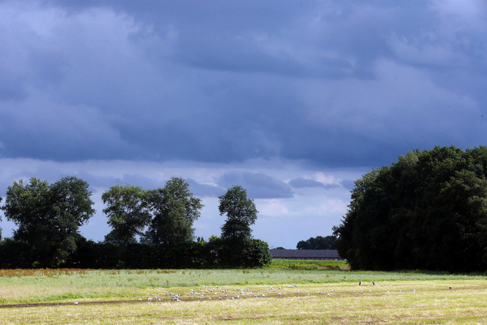 Donkere wolken boven Someren