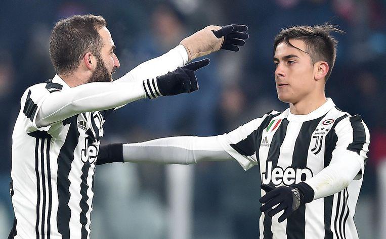 Met de Argentijnse prijsschutters Higuaín (31) en Dybala (32) had Juventus twee prijsschutters voorin lopen.