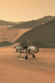 NASA stuurt drone naar supermaan Titan op zoek naar leven
