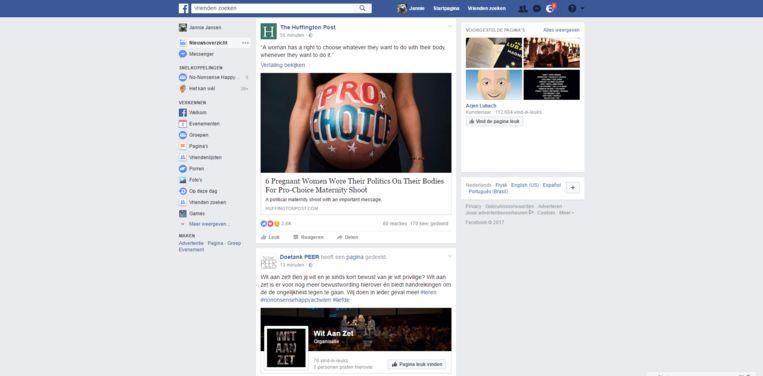 null Beeld Screenshot Lauren's Facebook