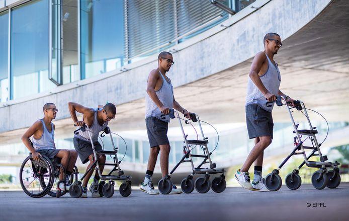 Mensen met een dwarslaesie weer laten lopen is het doel van GTX medical in Eindhoven,