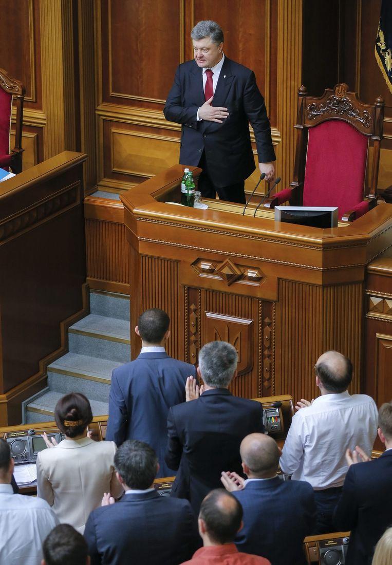 President Porosjenko. Beeld epa