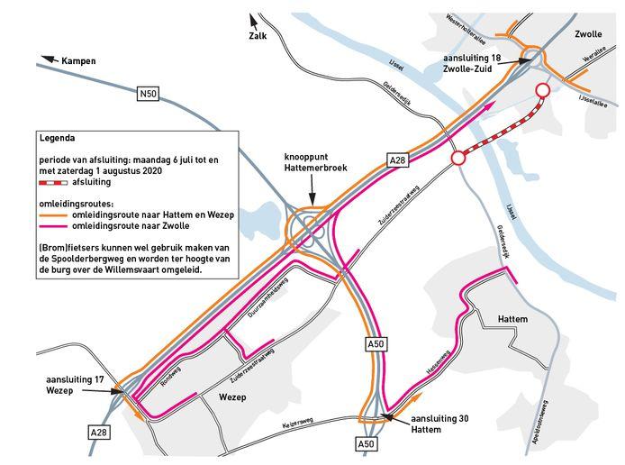 Regio: Afsluiting IJsselbrug en andere wegen door werkzaamheden in Zwolle