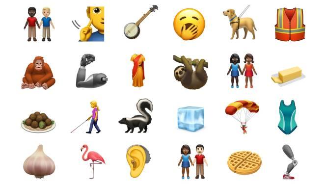 De flamingo, luiaard, hulphond en koppels in alle kleuren: deze nieuwe emoji's kan je binnenkort gebruiken