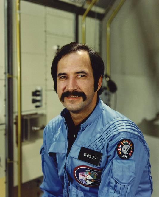 Wubbo Ockels als astronaut aan boord van de Challenger