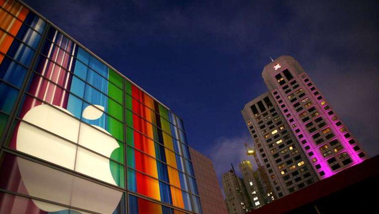Het Apple-logo in San Francisco. Beeld afp