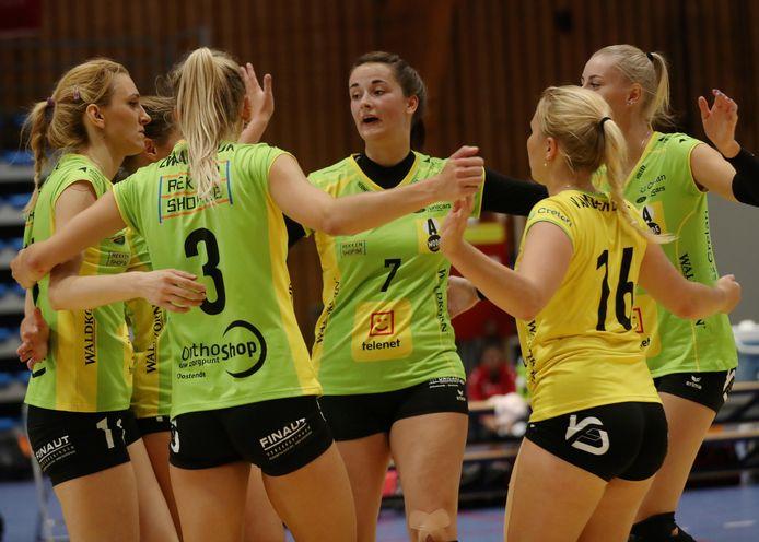 Geen derde beker van België op rij voor Hermes Volley Oostende.