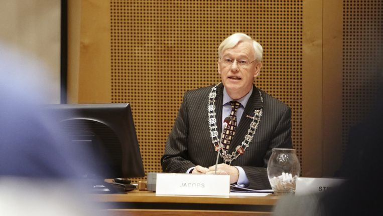 Burgemeester Jacobs van Helmond in januari vorig jaar. Beeld null