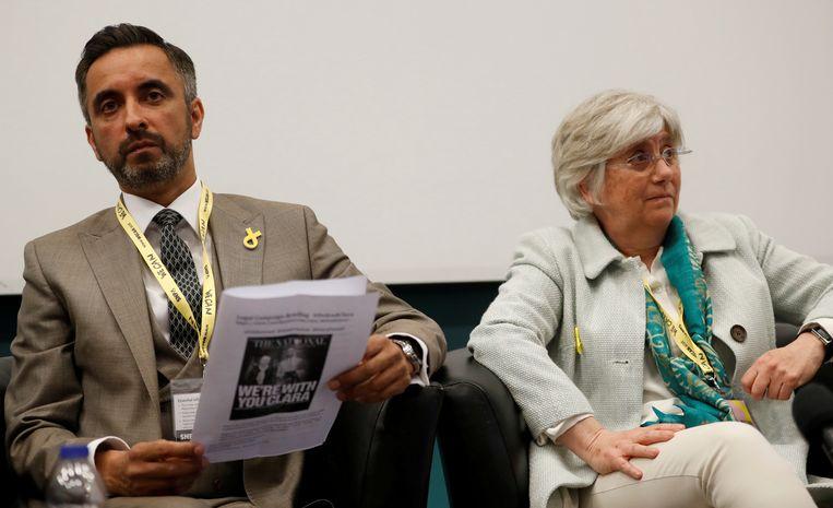Clara Ponsati en haar advocaat Aamer Anwar.