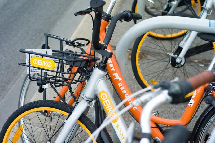 Een fiets van Donkey Republic.