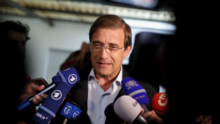 De Portugese premier Pedro Passos Coelho