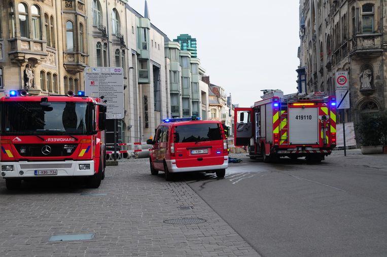 De brandweer zette de Belfortstraat een tijdlang af om gasmetingen uit te voeren.