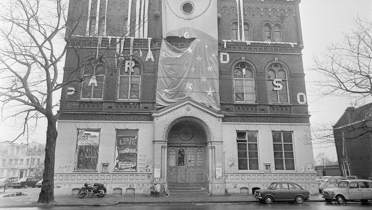 De kerk op de Weteringschans werd in 1967 gekraakt en ontruimd, maar enkele maanden later opende Paradiso zijn deuren Beeld ANP