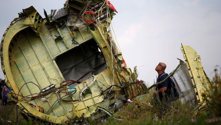 Resten van MH17 in juli 2014. Beeld REUTERS