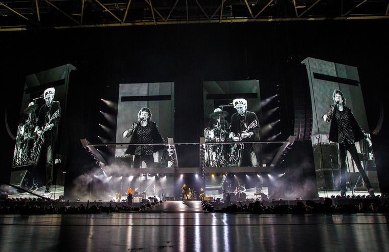 Het concert in de Johan Cruijff Arena spetterde zaterdag een stuk minder dan op Pinkpop, drie jaar terug, toen de band voor het laatst in Nederland speelde. Beeld ANP