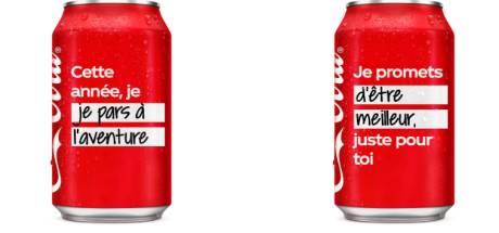 Coca-Cola vous invite à inscrire vos bonnes résolutions sur ses canettes