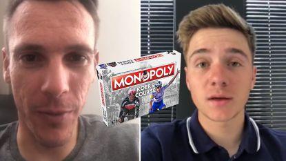 Philippe Gilbert en Remco Evenepoel leven zich vanaf nu uit in... Monopoly Koers