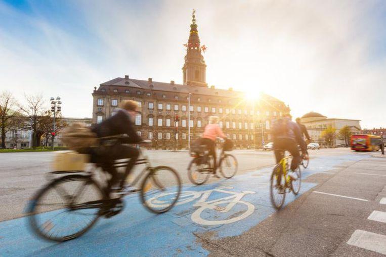 Hoofdstad Kopenhagen geldt als een van de meest fietsvriendelijke steden ter wereld.