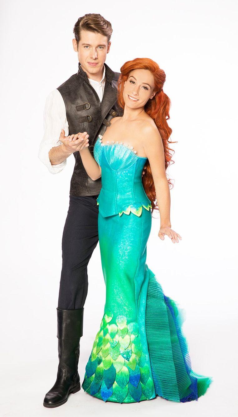Naast Juan Gerlo in 'The Little Mermaid'.
