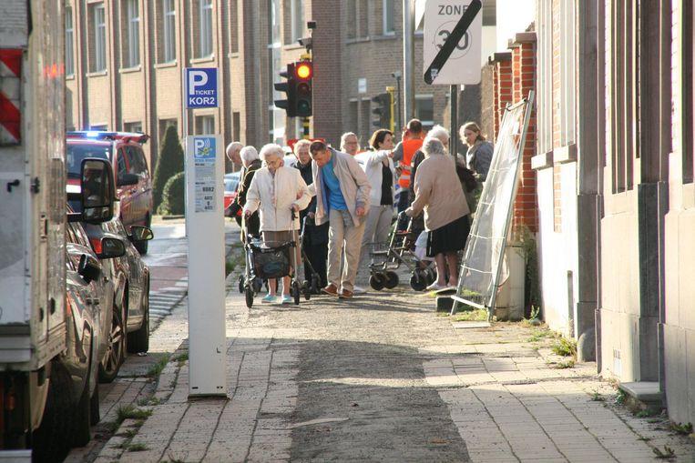 Bewoners van het woonzorgcentrum Pottelberg werden ook geëvacueerd.