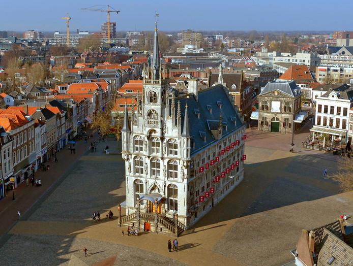 Het oude stadhuis op de Markt in Gouda