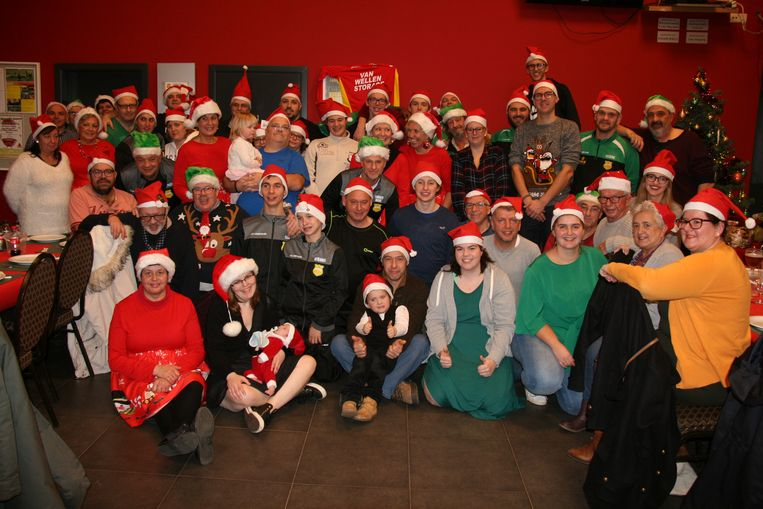 De G-voetballers van Noorse genoten van hun kerstfeest
